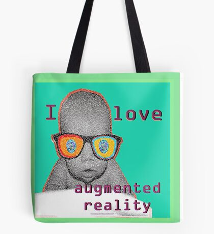 I Love Augmented Reality Baby Tote Bag