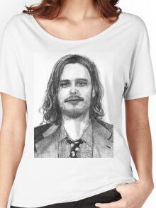 Matthew Gray Gubler Drawing Women's Relaxed Fit T-Shirt