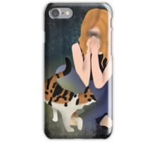 The helping cat iPhone Case/Skin