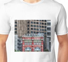 Hotel Lindrum - Old in front of new Unisex T-Shirt