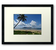 Mission Beach looking at Dunk Island - Queensland Framed Print