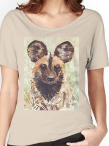 African Wild Dog Women's Relaxed Fit T-Shirt