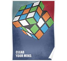 Clear Your Mind Corporate Start-up Quotes Poster