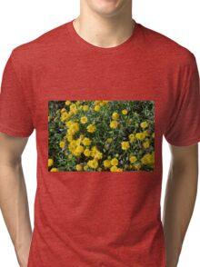 Bush of yellow flowers. Tri-blend T-Shirt