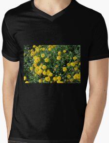 Bush of yellow flowers. Mens V-Neck T-Shirt