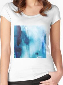 Blue Wash Women's Fitted Scoop T-Shirt