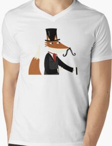 Sir Fox Mens V-Neck T-Shirt