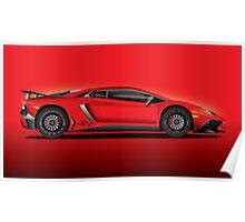 Red Aventador LP 750-4 Superveloce Poster