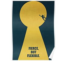 Fierce, But Flexible Corporate Start-up Quotes Poster