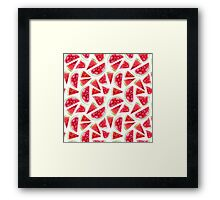 Watercolor watermelon slices  Framed Print