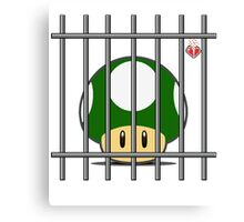 1-Up Life Behind Bars Canvas Print