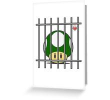 1-Up Life Behind Bars Greeting Card