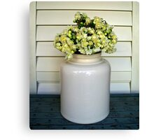 Jonquils in Stone Jar Canvas Print