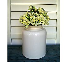 Jonquils in Stone Jar Photographic Print