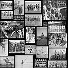 Vintage Swimmers - B&W  by Cody  VanDyke