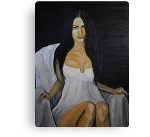 Megan Fox original oil painting unique piece of art  Canvas Print