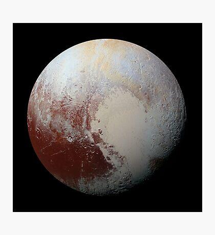 Pluto, by new horizons Photographic Print