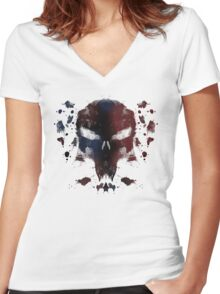 Ink Devil Women's Fitted V-Neck T-Shirt