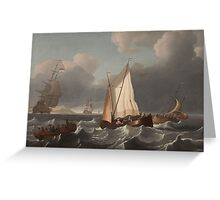 Wigerus Vitringa, copy after, SEASCAPE WITH SAILING SHIPS Greeting Card
