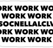Work Sticker
