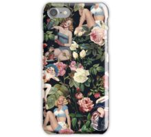 Floral and Pin Up Girls Pattern iPhone Case/Skin