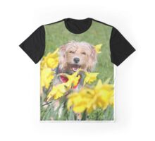 Dog in Daffodils III Graphic T-Shirt