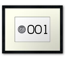 one number design: 001 Framed Print