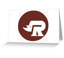 Rhino coverband Greeting Card