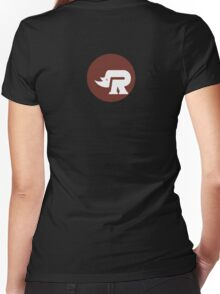 Rhino coverband Women's Fitted V-Neck T-Shirt