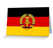 GDR Flag Greeting Card