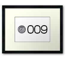 one number design: 009 Framed Print
