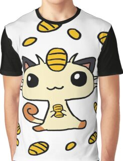 Meowth Maneki Graphic T-Shirt