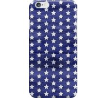 White stars on blue watercolor iPhone Case/Skin