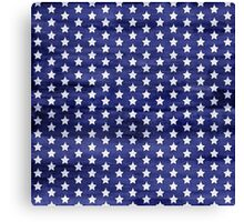 White stars on blue watercolor Canvas Print