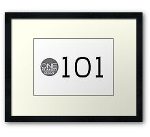 one number design: 101 Framed Print