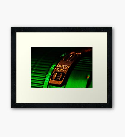 Lens art 001 Framed Print