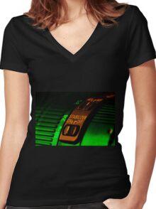 Lens art 001 Women's Fitted V-Neck T-Shirt