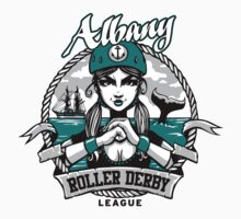 Albany Roller Derby League Logo Baby Tee