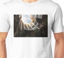 A Courtyard Shaped Like a Hug - Antoni Gaudi's La Pedrera or Casa Mila in Barcelona, Spain Unisex T-Shirt