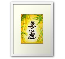 JuDo - the gentle way  Framed Print