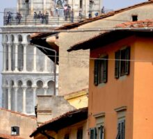 Pisa's Leaning Tower through the Streets Sticker