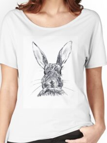 Rabbit ilustration Women's Relaxed Fit T-Shirt