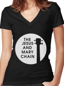 Jesus and Mary Chain Women's Fitted V-Neck T-Shirt