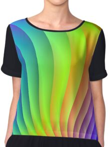 Color Waves Chiffon Top