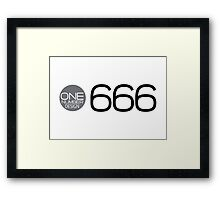 one number design: 666 Framed Print