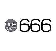one number design: 666 Photographic Print