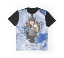 Funny street view of little french city Selestat. Curvature of space, little planet effect, panoramic view. Graphic T-Shirt