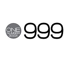 one number design: 999 Photographic Print