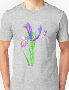 Iris in Watercolour Pencil T-Shirt
