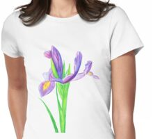 Iris in Watercolour Pencil Womens Fitted T-Shirt